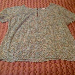 CAbi peasant blouse semi sheer medium